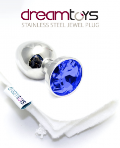 Dream Toys Stainless Jewelled Plug